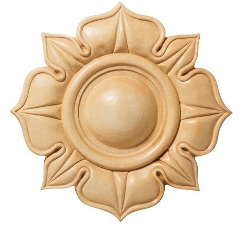 Lamb's Tongue Wood Rosette [2 PCS] - (Lindenwood)