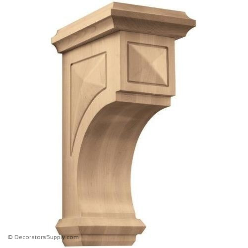 Pinnacle Wood Corbel - (Cherry, Maple, Walnut & White Oak) - 3 SIZES