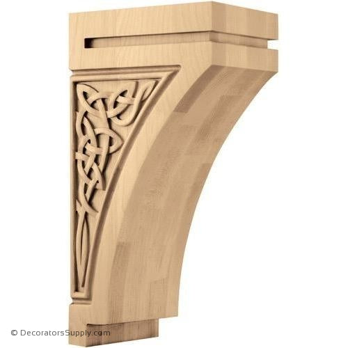 Gaelic Wood Corbel - (Cherry, Maple, Walnut & White Oak) - 3 SIZES