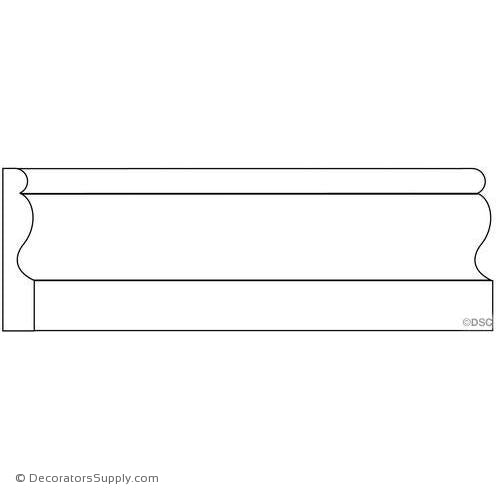 "Door Stop Molding - Smooth - 3/8"" x 2"" Wide"
