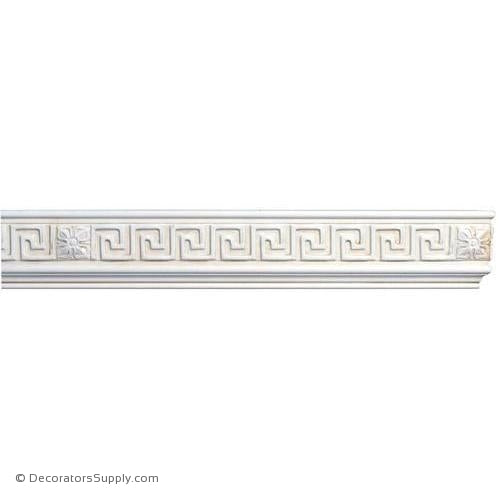 "Mon Reale® Frieze Moulding-Greek Key w/Rosette-13/16"" x 3 3/4"" W"