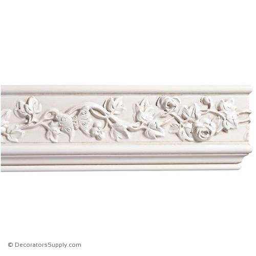 "Mon Reale® Frieze Moulding-Roses and Butterflies-13/16"" x 3 3/4"""