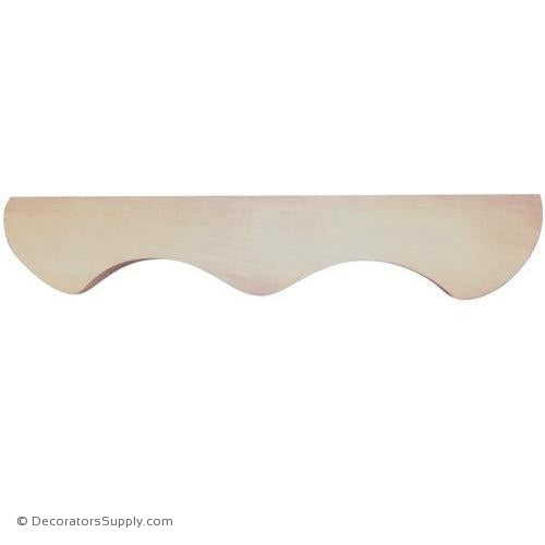 Middle Wood Pedestal Moulding - (Cherry, Maple, Poplar, Red Oak) | Decorators Supply Corporation