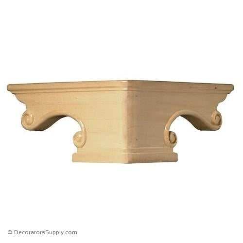 Pedestal Wood Foot Corner - (Cherry & Maple) | Decorators Supply Corporation