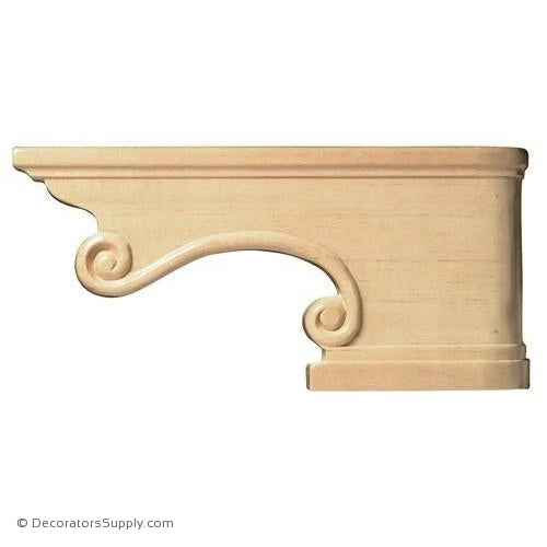 Traditional Pedestal Wood Foot Corner - [Pair, L & R] - (Cherry & Maple) | Decorators Supply Corporation