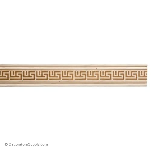 "Lineal Moulding - Embossed - 1 1/16"" x 3 1/2"" Wide"