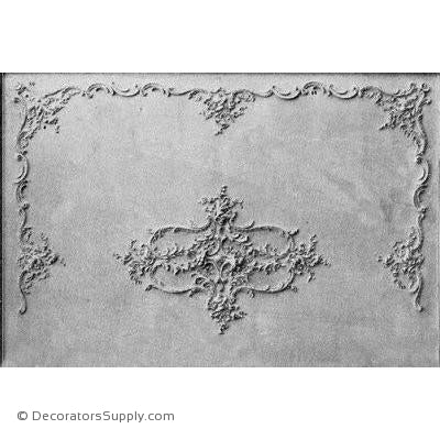 SCANNED IMAGE - LOUIS XV CEILING - SERIES 771-Hand-cast-ceiling-ornaments-Decorators Supply