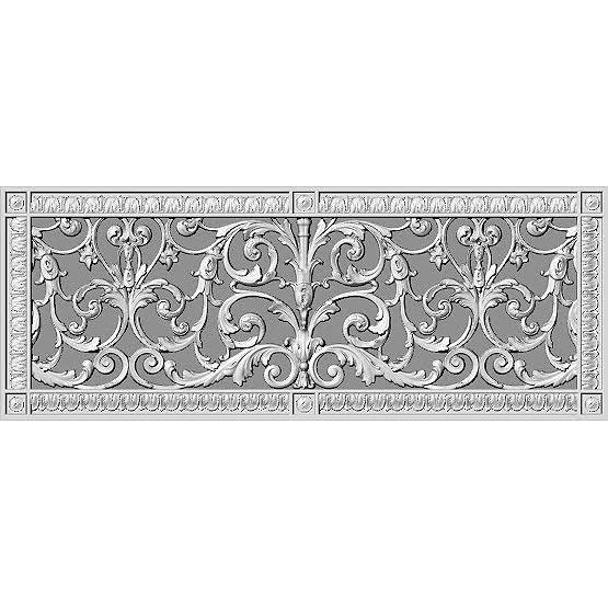 RESIN LOUIS XIV GRILLE - 10X24 DUCT, 12 X 26 FRAME