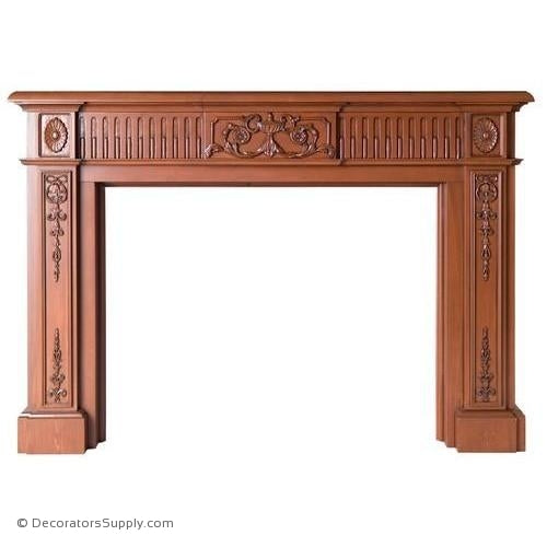 "Lindenwood Mantel- 76 3/4""OA Width, Opening - 52""W x 40""H"