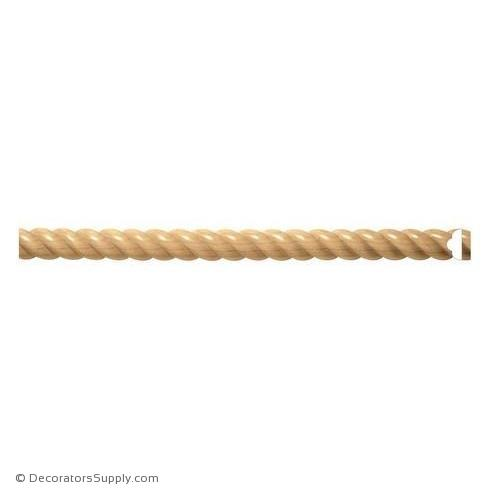 "Rope - 2-1/2"" Wide x 1-1/4"" Relief - (Comes In 8ft Increments)"