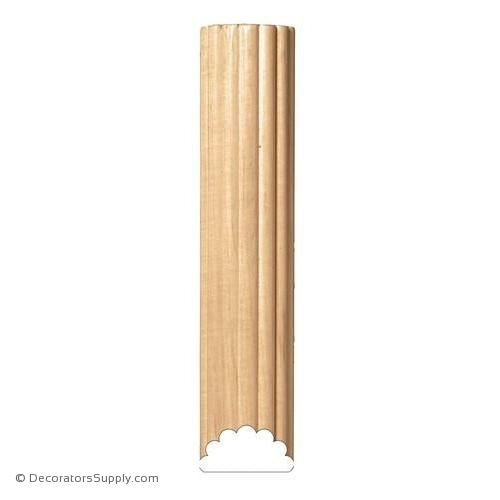 "4"" Reeded Half Round - (8' increments)"