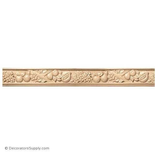 "5-1/4"" Wide - Large Tuscan Country Frieze (8' increments)"