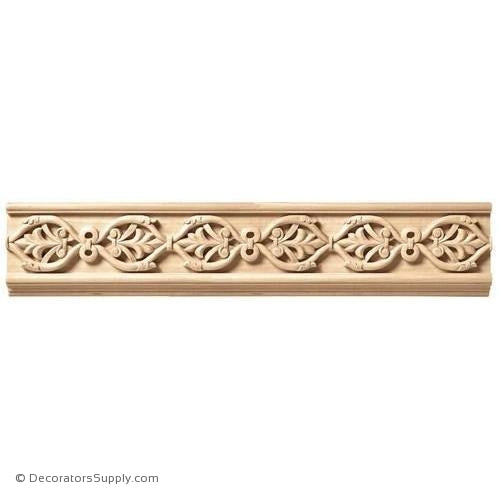 "5-1/4"" Wide - Large Running Palm. Frieze (8' increments)"