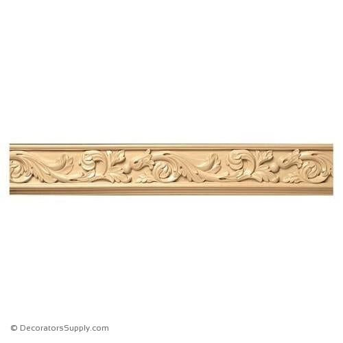 "3-1/2"" Wide - Acanthus Scrolls Frieze (8' increments)"
