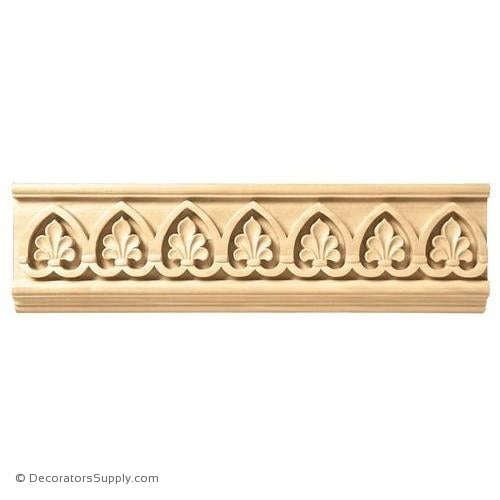 "3-1/2"" Wide - Palmette Frieze (8' increments)"