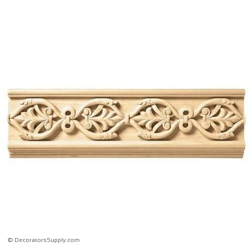 "3-1/2"" Wide - Running Palmette Frieze (8' increments)"
