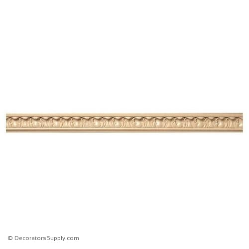 "1-1/2"" Acanthus Panel Moulding - (8' increments)"