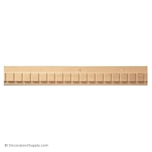 "2-3/8"" Dentil Mould - (8' increments)"