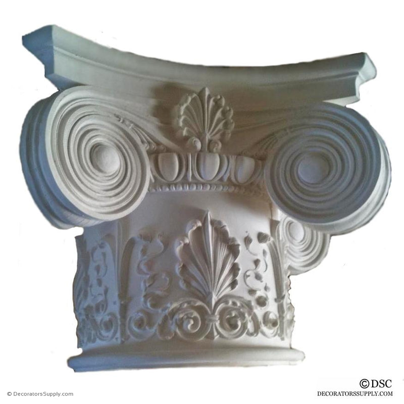 Plaster Capital [Round] - Modern Ionic Empire with Necking-Decorators Supply