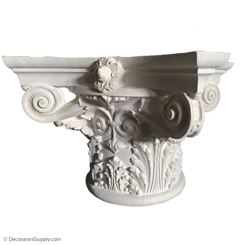 Plaster Capital [Round] - Italian Renaissance Corinthian Sansovino-Decorators Supply