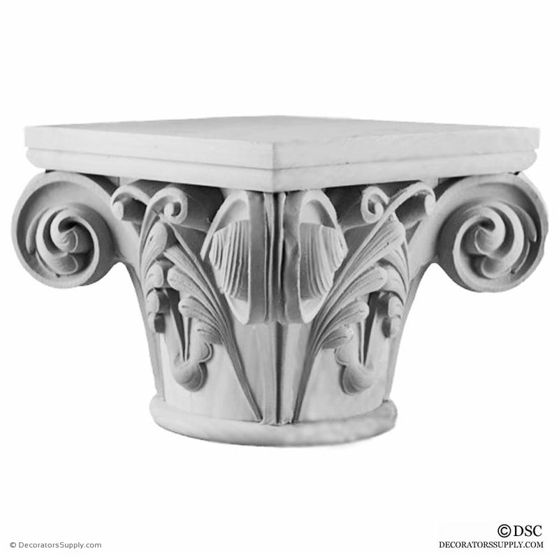 Plaster Capital [Round] - Gothic Notre Dame-Decorators Supply