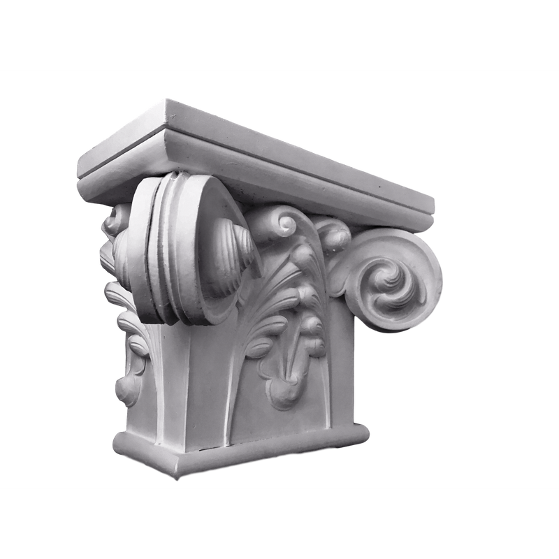 Plaster Pilaster Capital  [Half Square] - Gothic Notre Dame