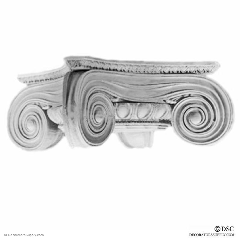 Plaster Capital [Round] - Greek Angular Ionic Minerva Polias-Decorators Supply