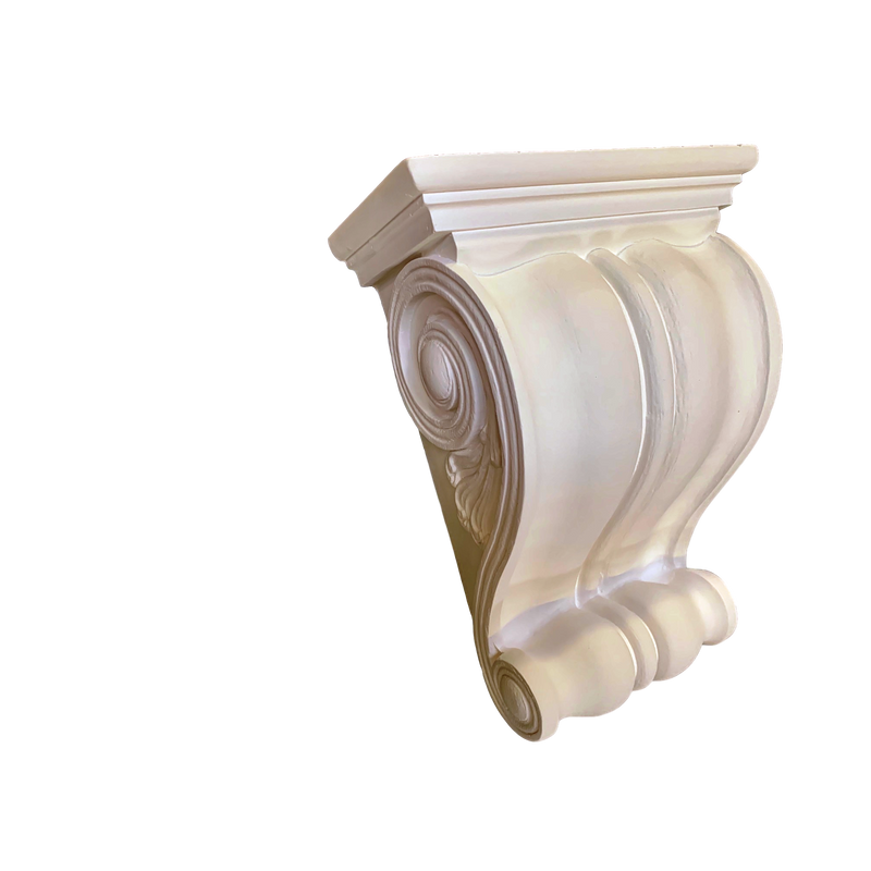Plaster Corbel - Classic Keystone - 5 SIZES