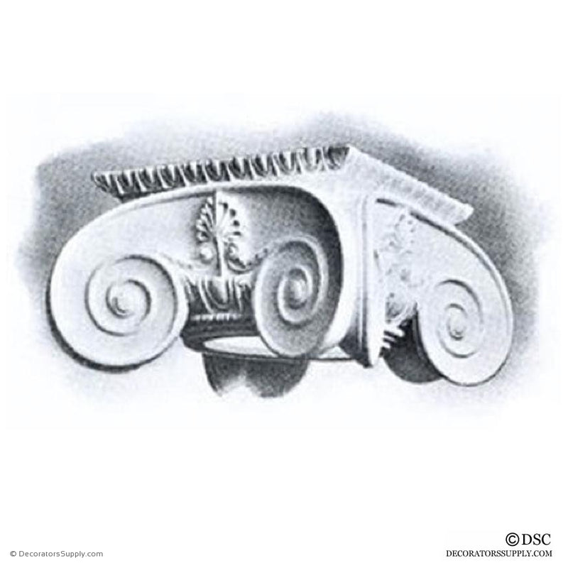 Plaster Capital [Round] - Greek Ionic Apollo-Decorators Supply