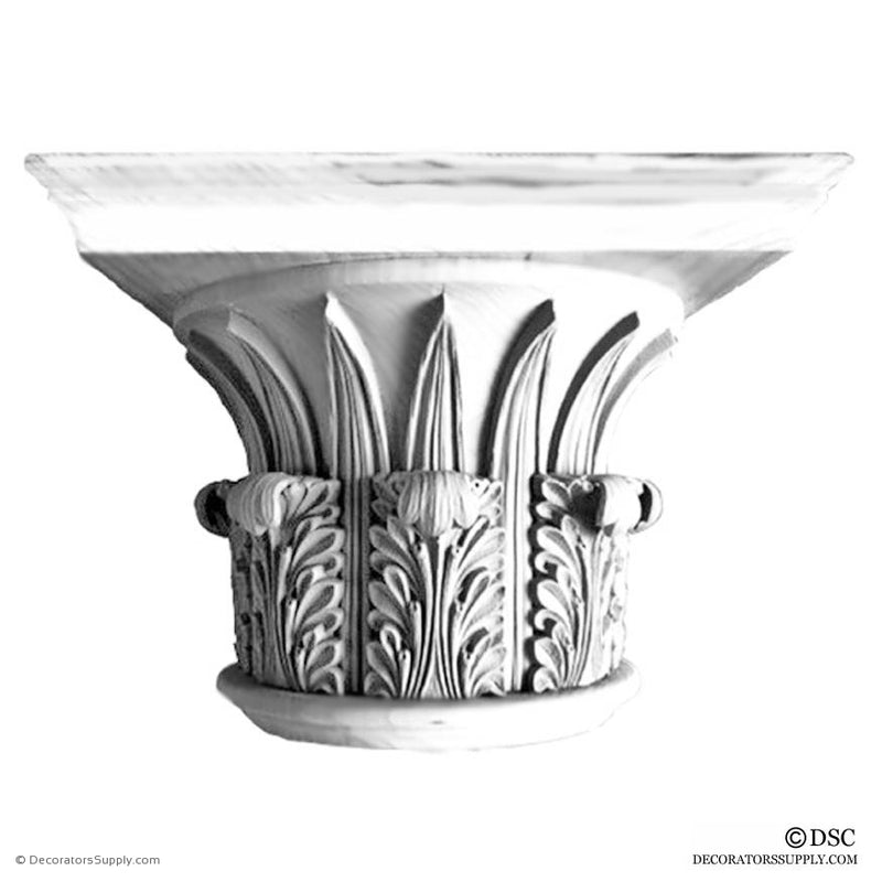Plaster Capital [Round] - Greek Corinthian Temple of the Winds-Decorators Supply