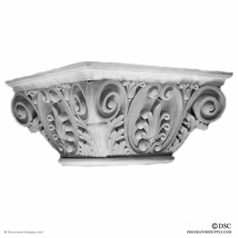 Plaster Capital [Round] - Renaissance Orleans-Decorators Supply