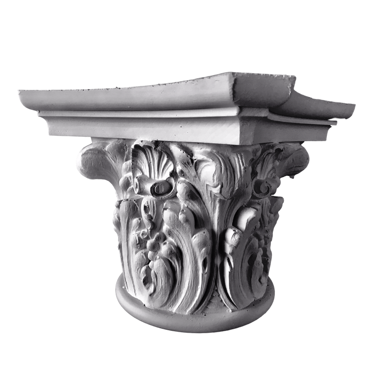 Plaster Capital [Round] - Modern Renaissance Verona - 2 Sizes