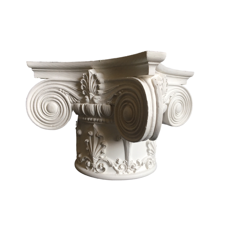 Plaster Capital [Round] - Ionic Renaissance Chicago - 2 Sizes