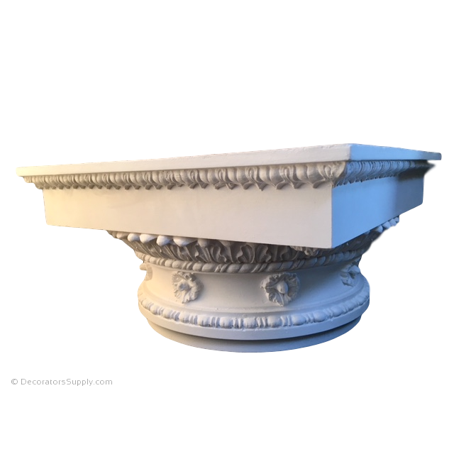 Plaster Capital [Round] - Roman Doric Diocletian-Decorators Supply