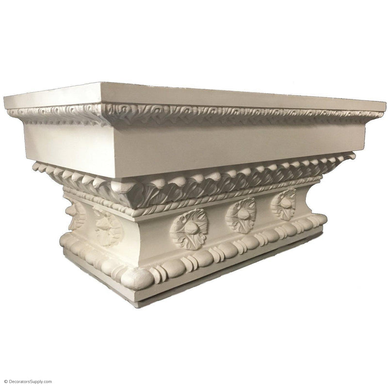 Plaster Pilaster Capital  [Half Square] - Roman Doric Diocletian - 2 Sizes