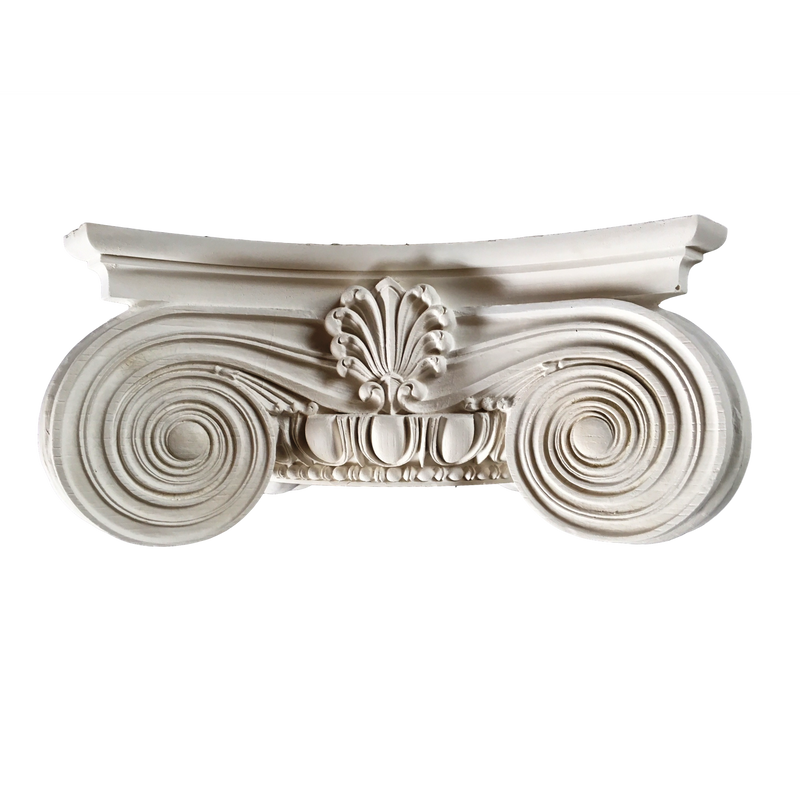 Plaster Capital [Round] - Modern Ionic Semi-Classic - 8 Sizes