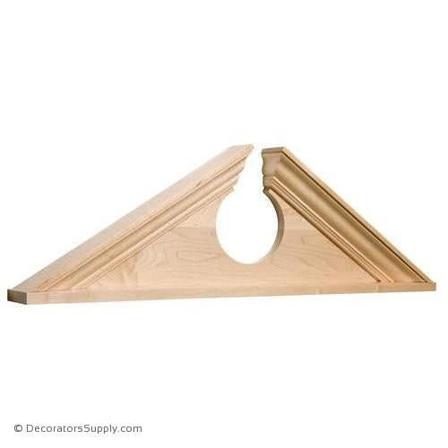 Large Broken Wood Pediment - (Cherry)
