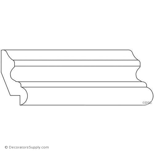 "Panel Moulding - Smooth - 5/8"" x 2 1/4"" W Lip-3/4"""
