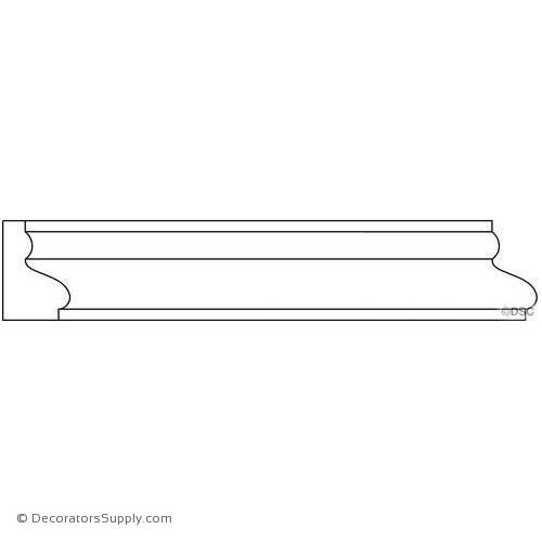 "Panel Moulding - Smooth - 3/4"" x 1 1/8"" Wide"