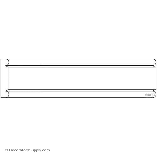 "Panel Moulding - Smooth - 1/4"" x 1 1/2"" Wide"