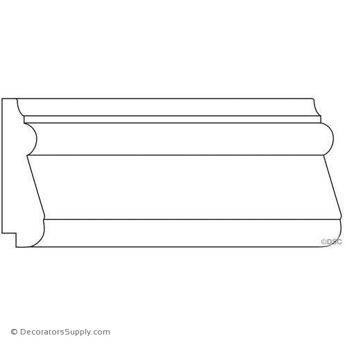 "Panel Moulding - Smooth - 3/4"" x 3"" Wide"
