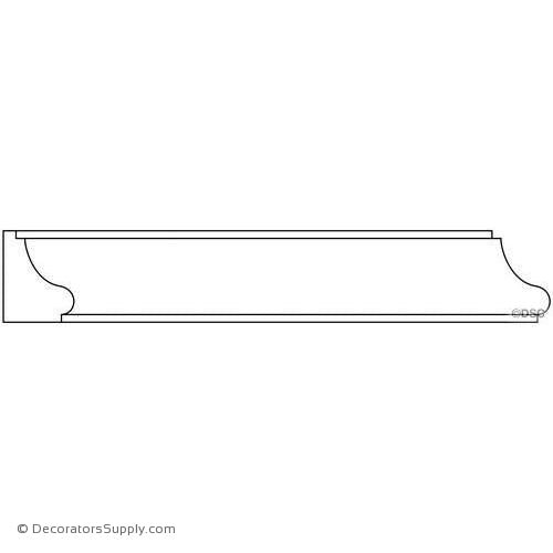 "Panel Moulding - Smooth - 3/4"" x 1"" Wide"