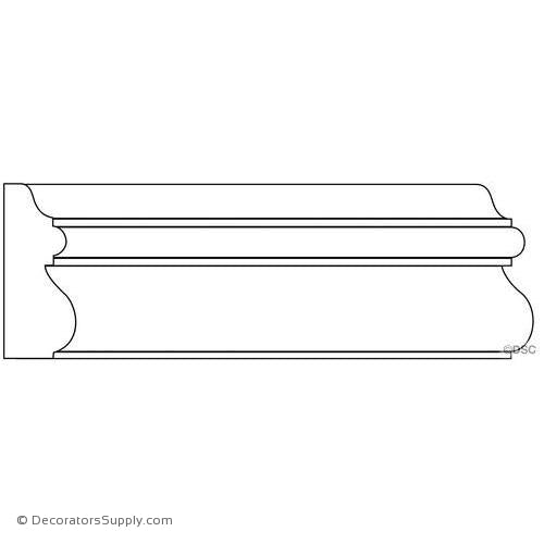 "Panel Moulding - Smooth - 3/4"" x 2"" Wide"