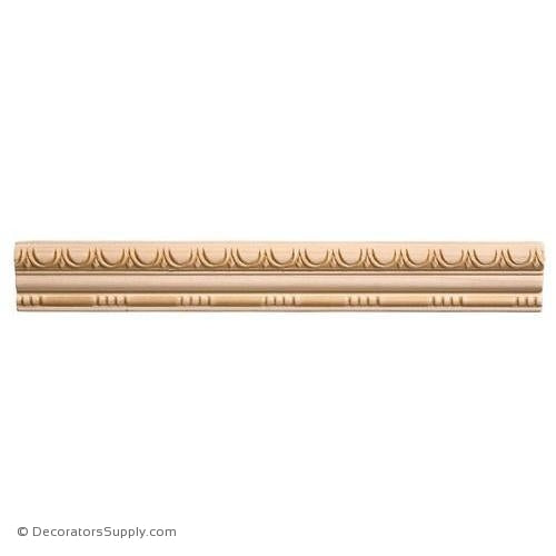 "Panel Moulding - Embossed - 11/16"" x 1 5/8"" Wide"