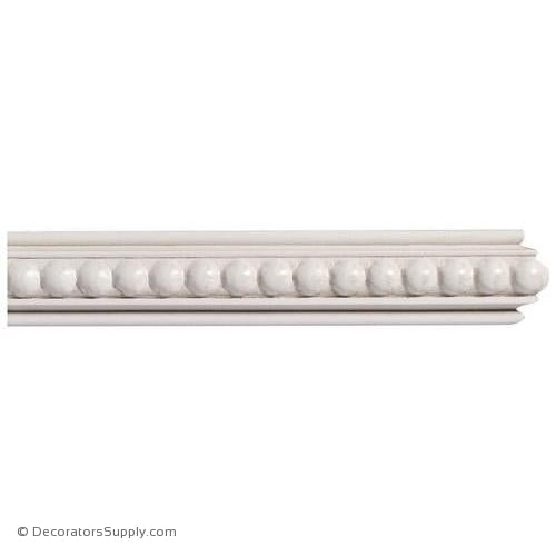 "Mon Reale® Panel Moulding -Small Beads- 5/8"" x 1"" Wide"