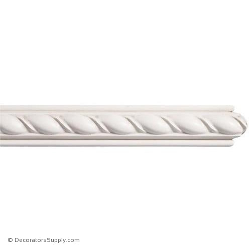 "Mon Reale® Panel Moulding -Large Rope- 7/8"" x 1 1/2"" Wide"