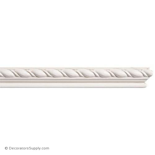 "Mon Reale® Panel Moulding -Small Rope- 9/16"" x 1"" Wide"