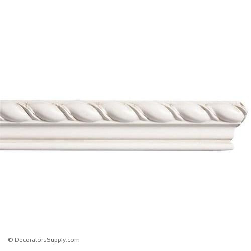 "Mon Reale® Panel Moulding -Large Rope- 7/8"" x 1 3/4"" Wide"