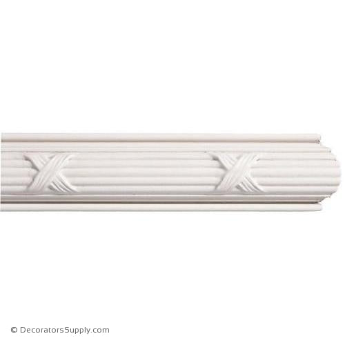 "Mon Reale® Panel Moulding -Reed & Ribbon- 13/16"" x 2"" Wide"