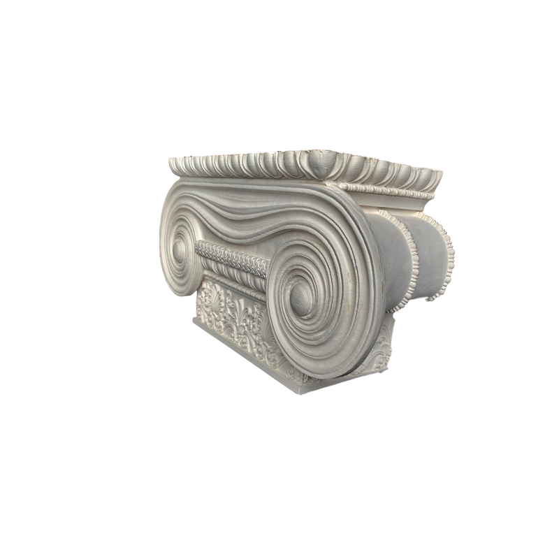 Plaster Pilaster Capital  [Half Square] - Greek Ionic Erechtheum w/ Necking